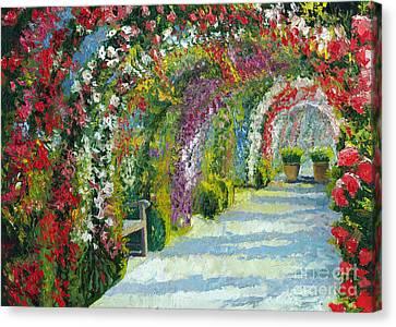Germany Baden-baden Rosengarten Canvas Print by Yuriy  Shevchuk