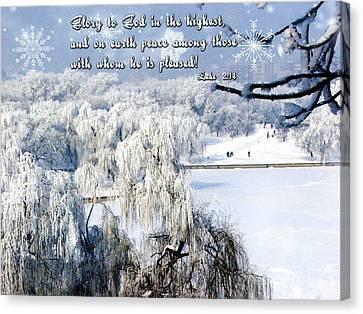 Glory To God Canvas Print by Judi Saunders