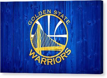 Golden State Warriors Door Canvas Print by Dan Sproul
