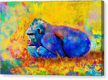 Gorilla Gorilla Canvas Print by Betty LaRue