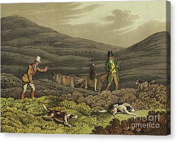 Grouse Shooting Canvas Print by Henry Thomas Alken