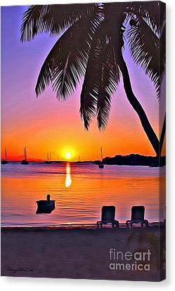 Guana Cay Canvas Print by Carey Chen