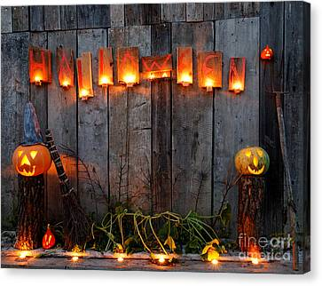 Halloween Pumpkins Canvas Print by Jerzy Lekki