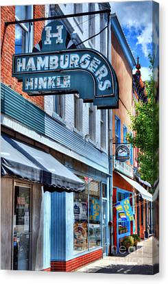 Hamburgers In Indiana Canvas Print by Mel Steinhauer