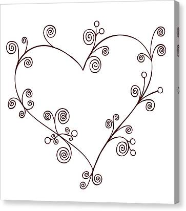 Heart Canvas Print by Frank Tschakert