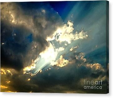 Heavenly Sky Canvas Print by Krissy Katsimbras