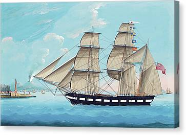 Helen Of Montrose In Neapolitan Waters Canvas Print by Michael Funno