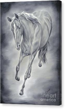 Here She Comes Canvas Print by Cathy Cleveland