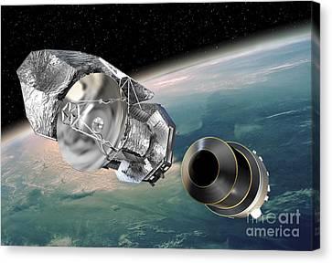 Herschel Orbital Separation, Artwork Canvas Print by David Ducros
