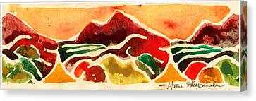 High Mountain Meadows Canvas Print by Annie Alexander