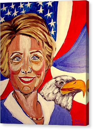 Hillary Clinton Canvas Print by Rusty Woodward Gladdish