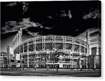 Home Of The Cleveland Indians Canvas Print by Doug Bardwell