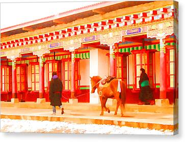 Horse Canvas Print by Lanjee Chee