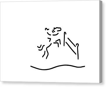 Horse Canvas Print by Lineamentum
