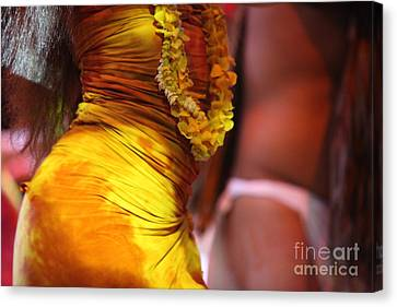 Hula Dancers Canvas Print by Nadine Rippelmeyer