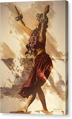 Hula On The Beach Canvas Print by Himani - Printscapes