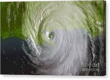 Hurricane Katrina Canvas Print by Science Source