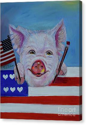 I Love The Usa Canvas Print by To-Tam Gerwe