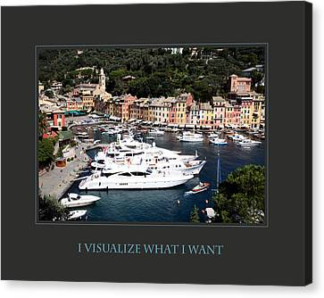 I Visualize What I Want Canvas Print by Donna Corless