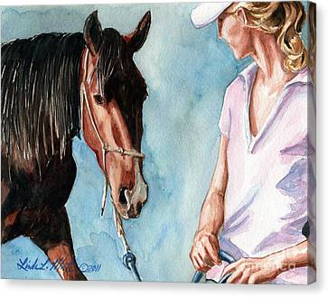 I Will Follow You Canvas Print by Linda L Martin