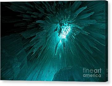 Ice From Below Canvas Print by Caffrey Fielding