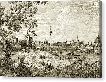 Imaginary View Of Padua Canvas Print by Canaletto