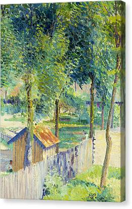 In The Garden Canvas Print by Hippolyte Petitjean