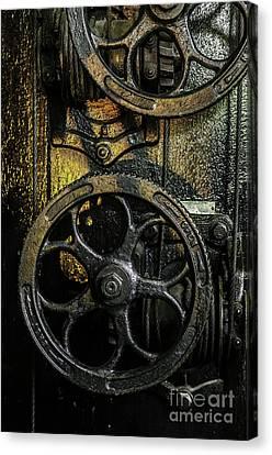 Industrial Wheels Canvas Print by Carlos Caetano