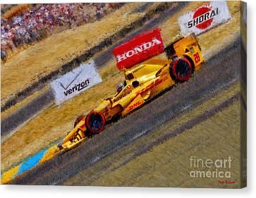 Indy Car's Ryan Hunter-reay Canvas Print by Blake Richards
