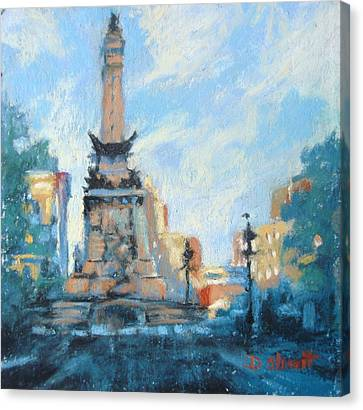 Indy Circle Day Canvas Print by Donna Shortt