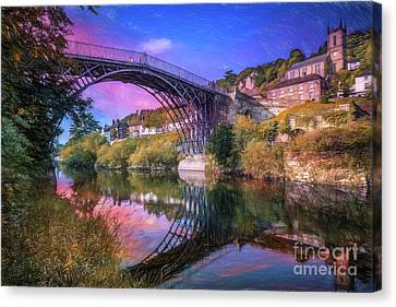 Iron Bridge 1779 Canvas Print by Adrian Evans