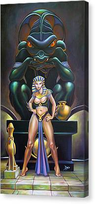 Isis And Osiris Canvas Print by Patrick Anthony Pierson