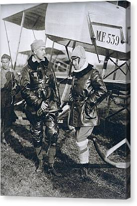 Italian Poet Writer Aviator Gabriele D Canvas Print by Vintage Design Pics
