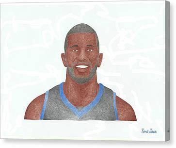 Jason Richardson Canvas Print by Toni Jaso