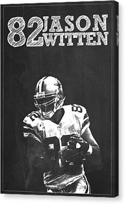 Jason Witten Canvas Print by Semih Yurdabak