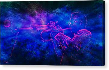 Jazz Canvas Print by Jean Francois Gil