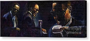 Jazz Ray Charles Canvas Print by Yuriy  Shevchuk