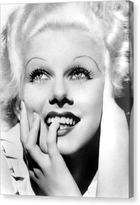 Jean Harlow, Mgm, Ca. Early 1930s Canvas Print by Everett