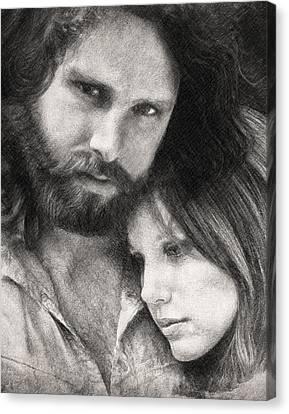 Jim And Pam Canvas Print by Taylan Apukovska