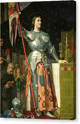 Joan Of Arc At The Coronation Of Charles Vii Canvas Print by Jean-Auguste-Dominique Ingres