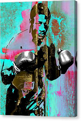 Joe Frazier Collection Canvas Print by Marvin Blaine