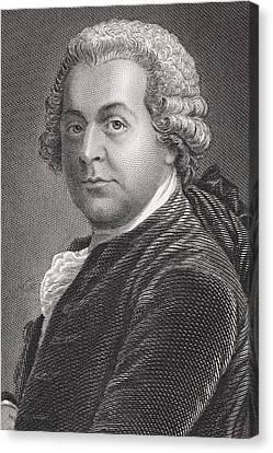 John Adams 1735 - 1826. First Vice Canvas Print by Vintage Design Pics