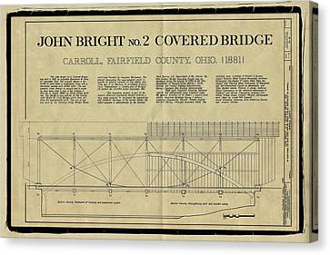 John Bright Covered Bridge Canvas Print by Jack R Perry