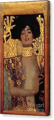 Judith Canvas Print by Gustav Klimt