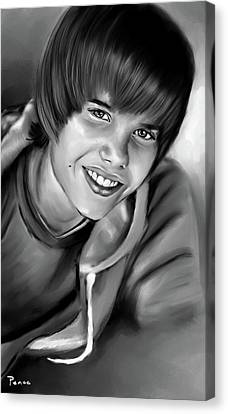 Justin Canvas Print by Lisa Pence