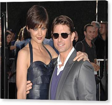 Katie Holmes Wearing A Holmes Yang Canvas Print by Everett