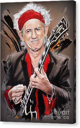 Keith Richards Canvas Print by Melanie D