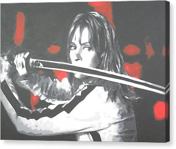 Kill Bill Canvas Print by Luis Ludzska