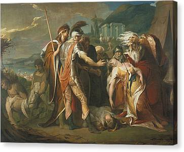 King Lear Weeping Over The Dead Body Of Cordelia Canvas Print by James Barry