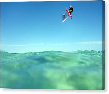 Kitesurfing Canvas Print by Stelios Kleanthous